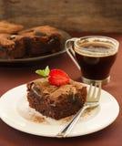 Chocolate brownie cake Stock Images