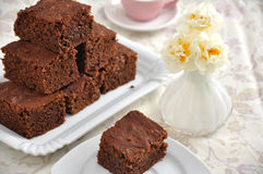Chocolate Brownie Cake Stock Photography