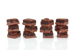 Chocolate Brownie Cakes Stock Photos