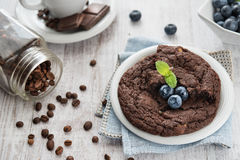Chocolate brownie cookie Stock Photography