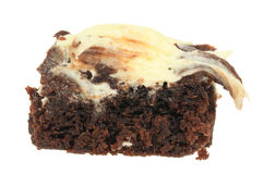 Chocolate Brownie with Icing Royalty Free Stock Image