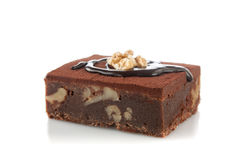 Chocolate brownie and nut Royalty Free Stock Photo