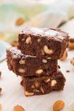 Chocolate brownie with nuts Royalty Free Stock Photo