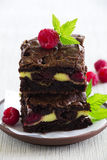 Chocolate brownie Royalty Free Stock Images