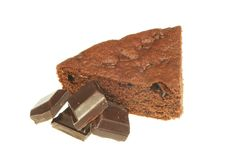Chocolate brownie slice Royalty Free Stock Photo