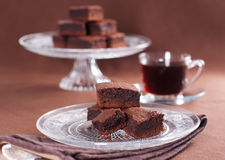 Chocolate brownies Stock Image