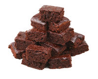 Chocolate brownies Stock Photos