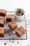 Chocolate Brownies On Cooling Rack Royalty Free Stock Photo