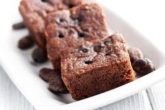 Chocolate brownies dessert Stock Images