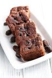 Chocolate brownies dessert Royalty Free Stock Image