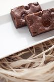 Chocolate brownies dessert Stock Photography
