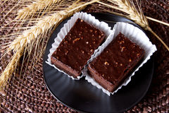 Chocolate brownies Stock Image