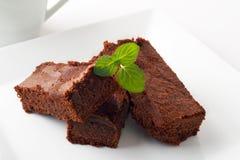 Chocolate brownies Stock Photo