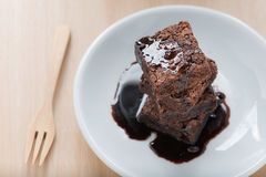Chocolate brownies. Stock Photos