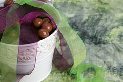 Chocolate bucket Royalty Free Stock Image