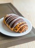 Chocolate bun Stock Photos