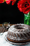 Chocolate bundt cake Stock Photo