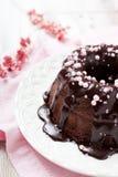 Chocolate bundt cake Stock Image
