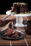 Chocolate bundt cake Royalty Free Stock Photos