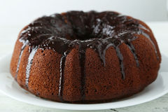 Chocolate bundt cake Stock Photos