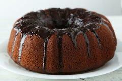 Chocolate bundt cake Stock Photos