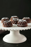 Chocolate bundt cakes Royalty Free Stock Photos