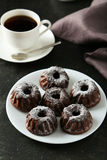 Chocolate bundt cakes Stock Image