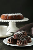 Chocolate bundt cakes Royalty Free Stock Photo
