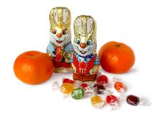 Chocolate bunnies Stock Photography