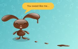 Chocolate bunny. Stock Images