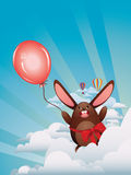 Chocolate Bunny with Balloon Royalty Free Stock Images