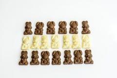 Chocolate bunny candies Stock Photos