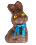 Chocolate bunny, clip-pathed Stock Photography