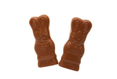 Chocolate bunny isolated Royalty Free Stock Photo