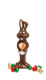 chocolate bunny isolated Royalty Free Stock Images