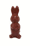Chocolate bunny made of dark chocolate. Royalty Free Stock Images