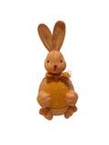 Chocolate bunny rabbit. Decorative brown chocolate bunny rabbit; white studio background Stock Image