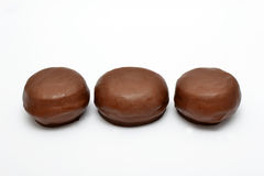 Chocolate buns Stock Photo