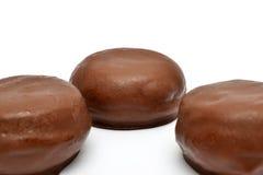 Chocolate buns Stock Photos