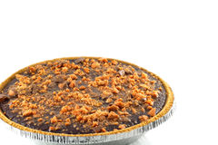 Chocolate Butterfinger Pie Royalty Free Stock Photography
