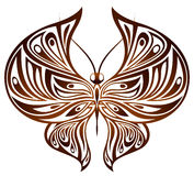 Chocolate butterfly Stock Photo