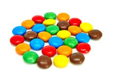 Chocolate buttons stock images