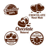 Chocolate, cacao sweets symbol set for food design stock illustration