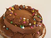 Chocolate cake. Chocolate cke tilted and on an angle Stock Images