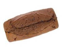 Chocolate cake. On white background stock images