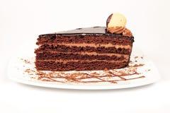 Chocolate Cake. On the white background Stock Image