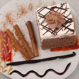 Chocolate cake. For the celebration Royalty Free Stock Photos