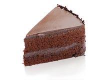 Chocolate cake isolated on white  Royalty Free Stock Photography