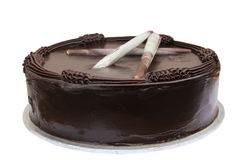 Chocolate Cake. On white background Royalty Free Stock Images