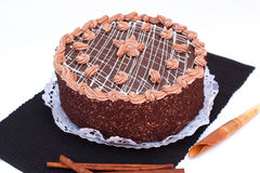 Chocolate cake. Delicious chocolate cake from Hungary Stock Photos